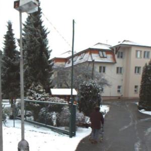 Chvalkov domov v zimě