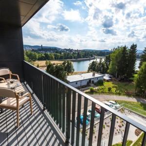 Mšeno Dům U přehrady balkon